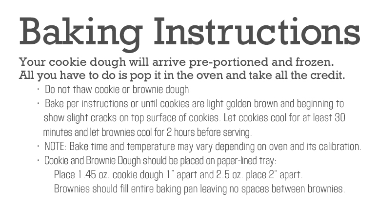 Image of Baking Instructions