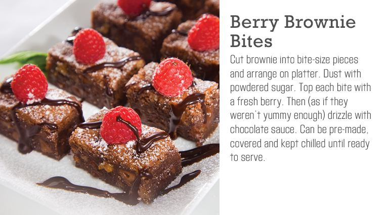 Berry Brownie Bites