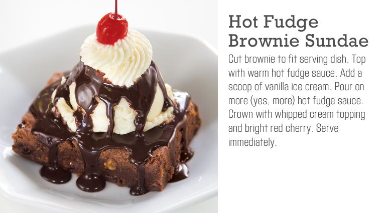 Hot Fudge Brownie Sundae